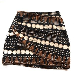 Free People Aztec layered mini skirt tribal print